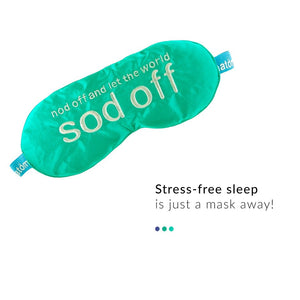 Silk Sleep Mask - Sod Off from  Anatomicals | Smytten