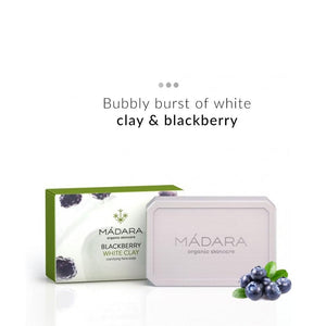 Blackberry & White Clay Clarifying Face Soap | Madara Organic Skincare | Shop on Smytten