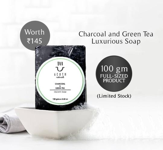 Soap - Charcoal And Green Tea Luxurious Soap
