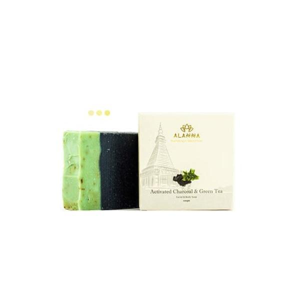 Soaps - Activated Charcoal & Green Tea Soap (Set Of 3)