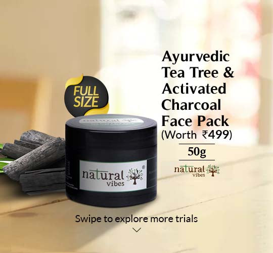 Ayurvedic Tea Tree and Activated Charcoal Face Pack 50g