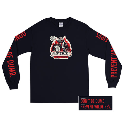 Fire Long Sleeve Tee - datacrew
