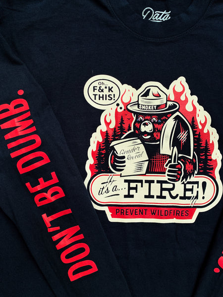 Fire Long Sleeve Tee Long Sleeve Tee DATA CREW | DataCrew