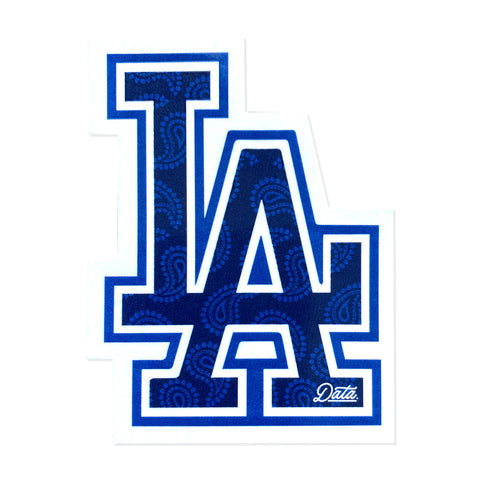 LA (Blue Flag) STICKER - datacrew