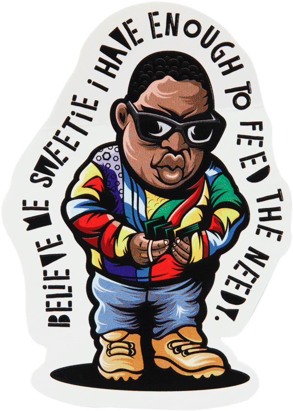 Get Money Biggie Sticker Stickers DATA CREW | DataCrew