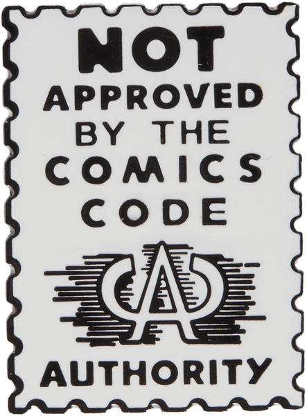 Not Approved Comic Pin - datacrew