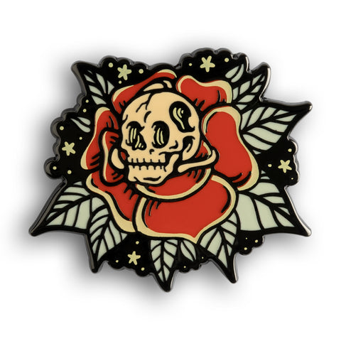 Rose Skull Pin Pin DATA CREW | DataCrew