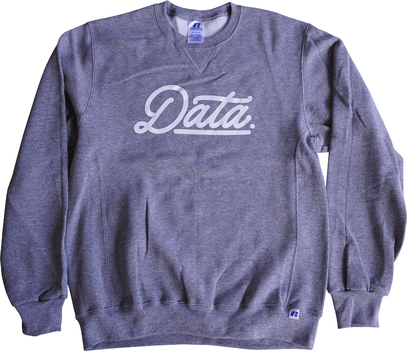 Data Script Dri-Power Crewneck (Russell) sweater DATA CREW | DataCrew