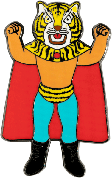 Tiger Mask Pin Pin Coolectric Creations | DataCrew