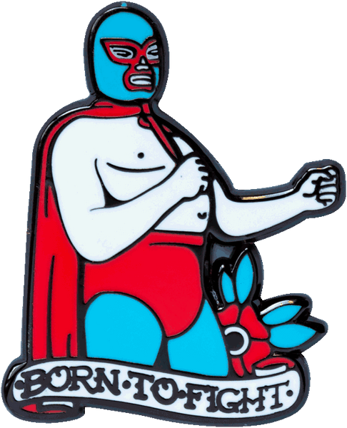 """Born to fight"" Pin Pin Data Crew 