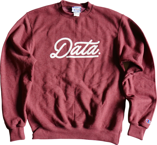 DATA X CHAMPION CREW NECK Sweater sweater Data Crew | DataCrew
