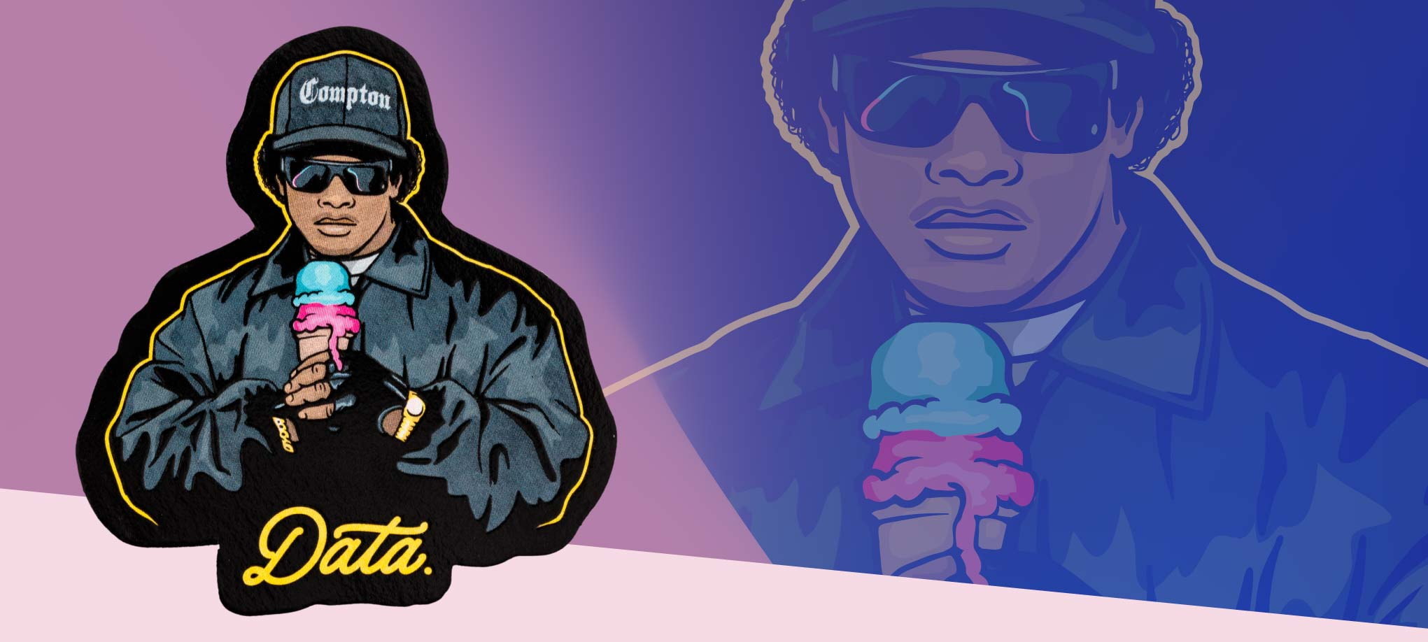 """EAZY ICE CREAM"" STICKER Stickers Jake Beeson X Data 
