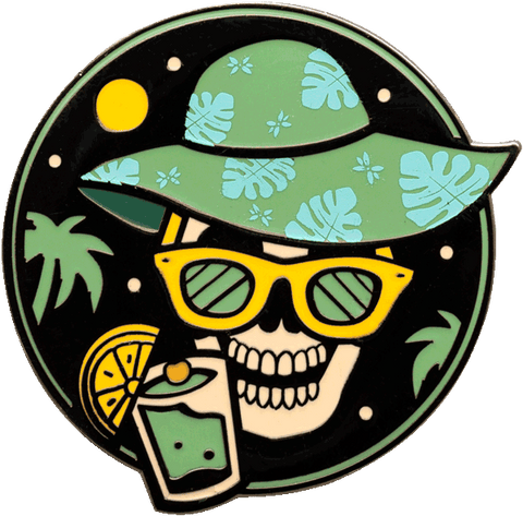 """Have a Drink"" Pin Pin Data Crew 