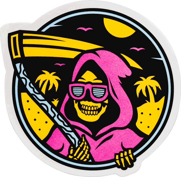 """ISLAND REAPER"" Sticker Stickers Data Crew 