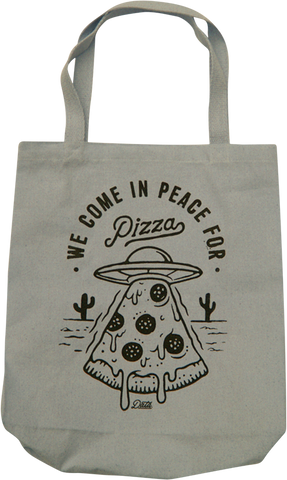 Pizza Invasion Tote Bag Tote Bag DATA CREW | DataCrew