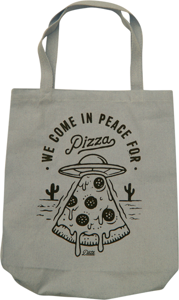 Pizza Invasion Tote Bag Tote Bag Data Brand | DataCrew