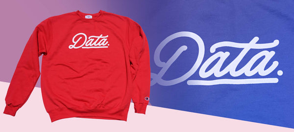 Smooth Logo Crewneck (Champion) sweater DATA CREW | DataCrew