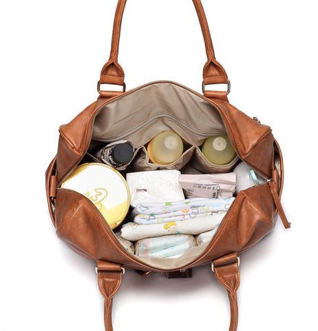 Adele All in One Nappy Bag - Tan