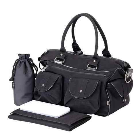 Black Washed Nylon Patent Carry all