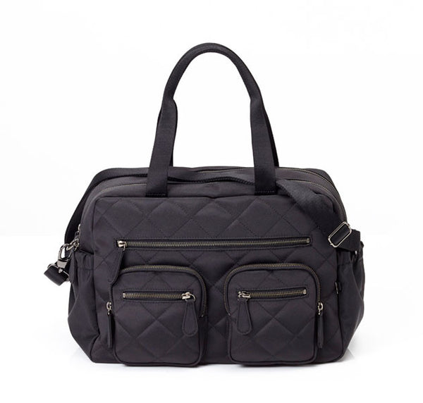 Quilted Diamond Black Carry All oioi