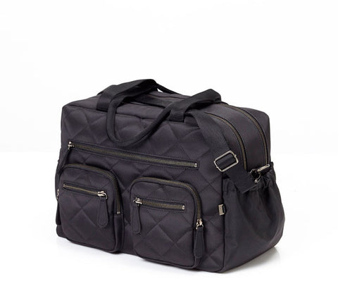 Quilted Diamond Black Carry All