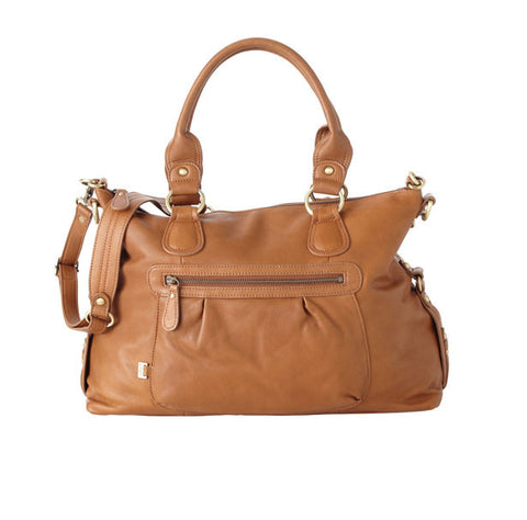 Tan Leather Slouch Tote OiOi
