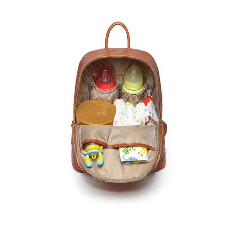 Viv Nappy Bag Backpack – Tan