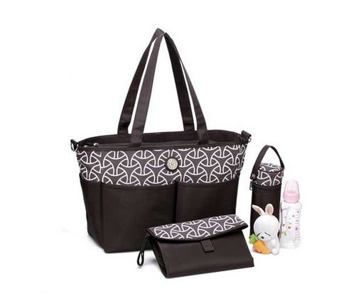 Charlie Two Tone Tote with change station