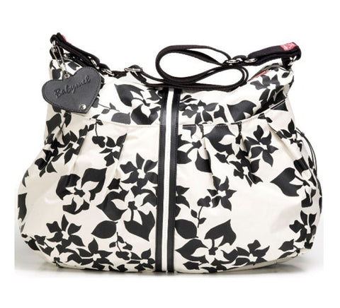Babymel Amanda Floral Black and White