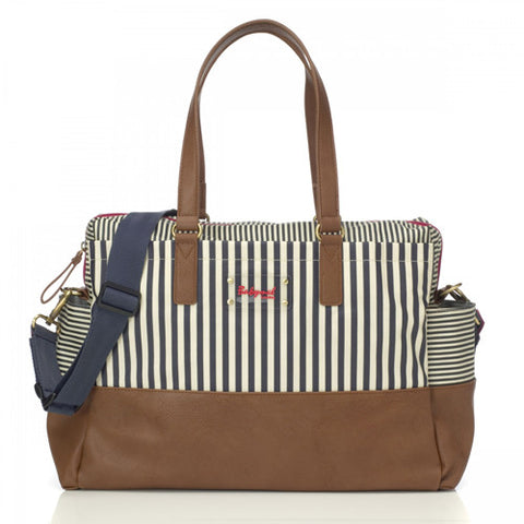 Millie Stripe Navy Babymel Diaper bag