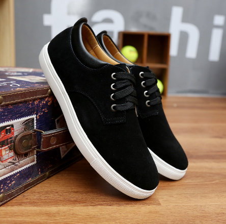 Suede Walking Shoes black