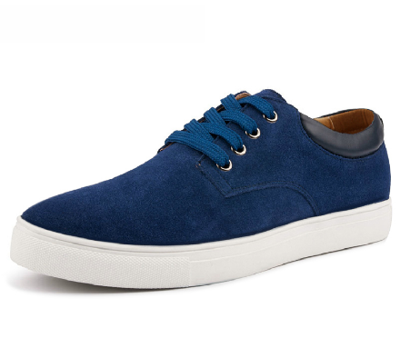 Suede Walking Shoes blue