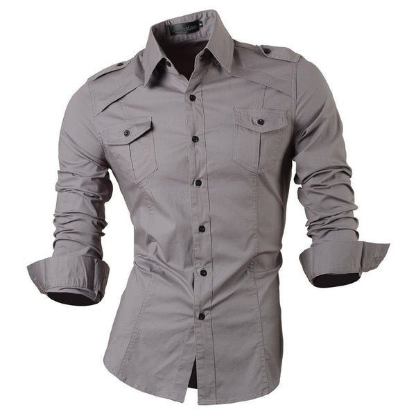 Long Sleeved Shirt with Pockets grey