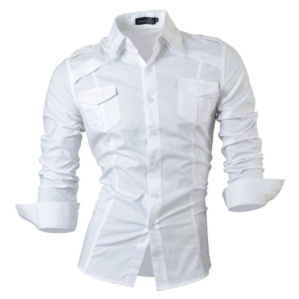 Long Sleeved Shirt with Pockets white