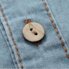 Shirt with Wooden Buttons