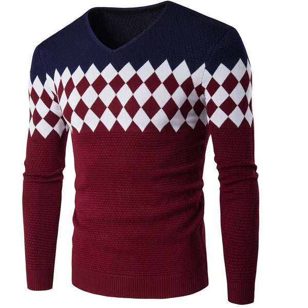Geometric Patterned Pullover
