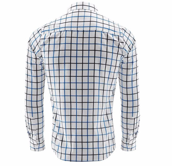 Plaid Long-Sleeved Shirt