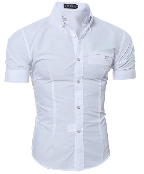Short Sleeved Dress Shirt 8 colors