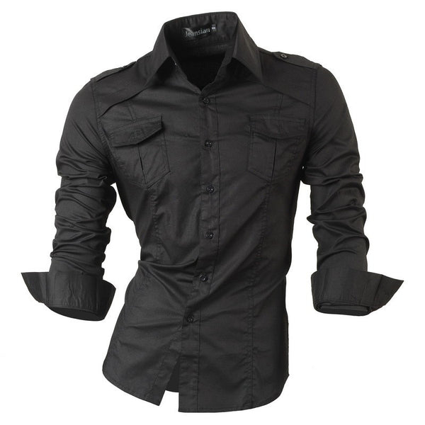 Long Sleeved Shirt with Pockets 7 colors