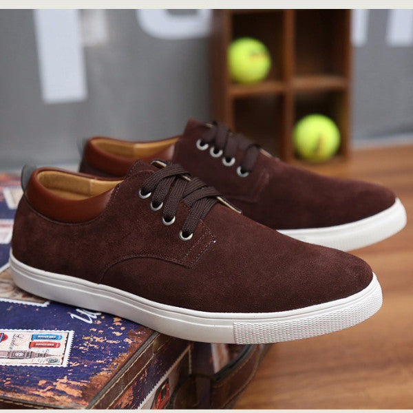 Suede Walking Shoes brown