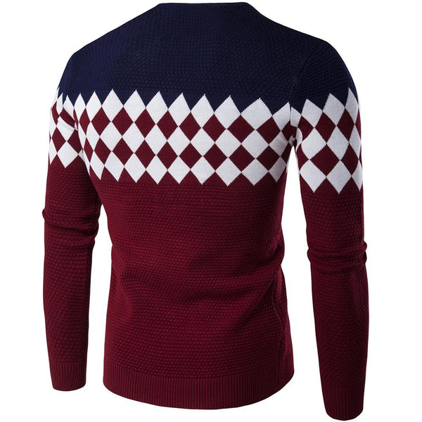 Geometric Patterned Pullover 4 colors