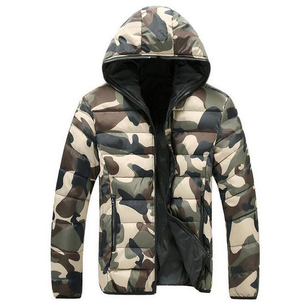 Warm Thickened  Padded Camouflage Jacket 3 colors