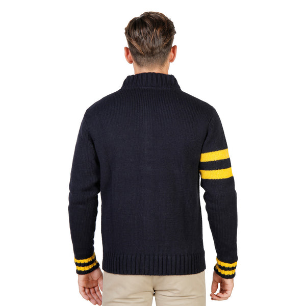 V-neck Sweater with Zipper Oxford University - OXFORD_TRICOT-TEDDY