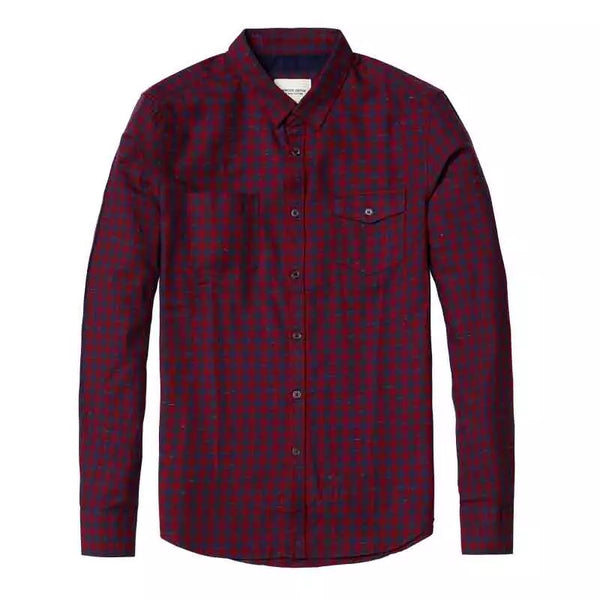 Plaid Pockets Cotton Shirt