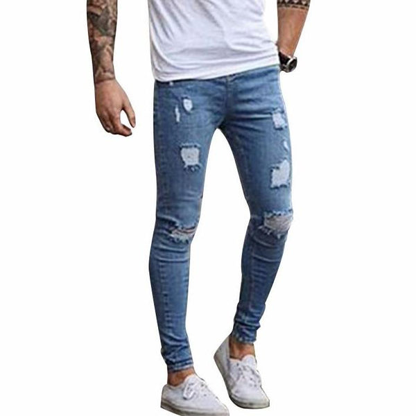 Fashion Destroyed  Skinny Denim Pants
