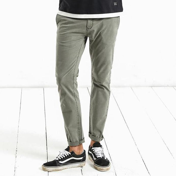 Vintage Casual Gray Green Pants