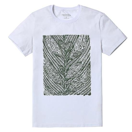 Graphic Patterned White Tee