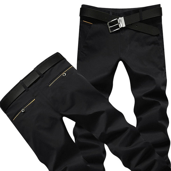 Casual  Pants with Yellow Trimmed Pockets 9 colors