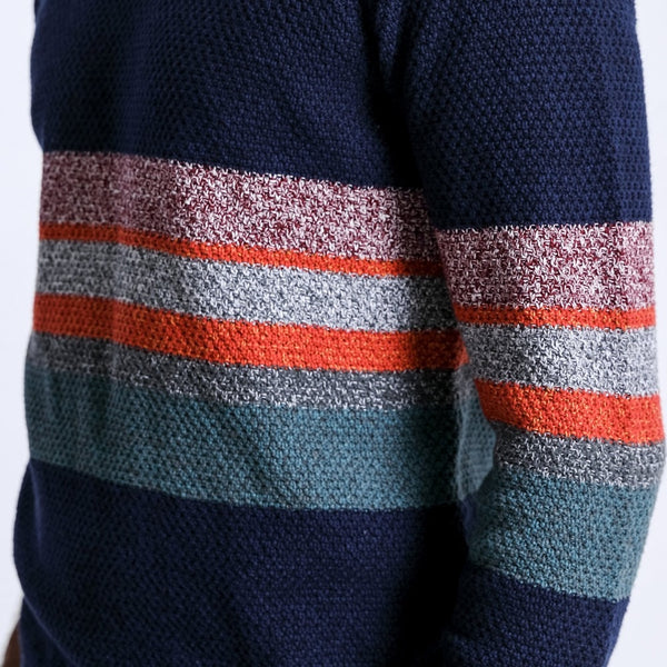 Contrast Color Knitted Pullover