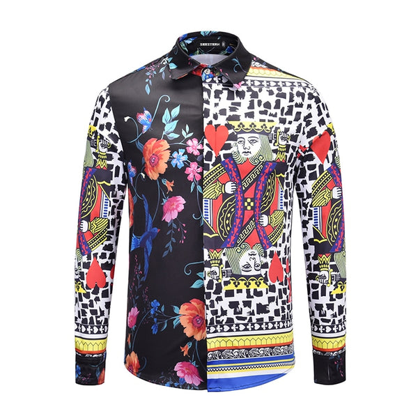Flower Poker Printed Shirt